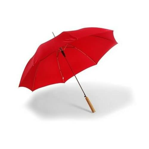 Piros esernyő SEAT logóval