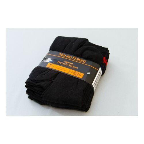 Mauro Ferrini zokni fekete-csíkos 8 pár /csomag