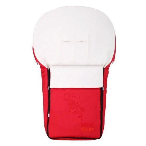 Luxus fleec téli lábzsák New Baby piros