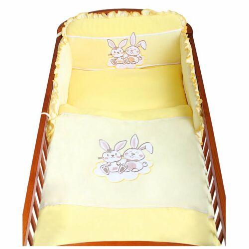 3-részes ágyneműhuzat New Baby Bunnies 100x135 sárga