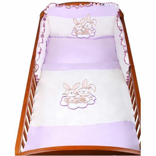3-részes ágyneműhuzat New Baby Bunnies 100x135 lila