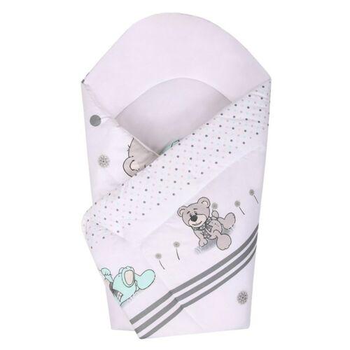 Gyerek pólya New Baby szürke maci