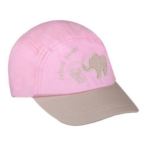 Nyári gyermek baseball sapka New Baby Animal Friend világos rózsaszín