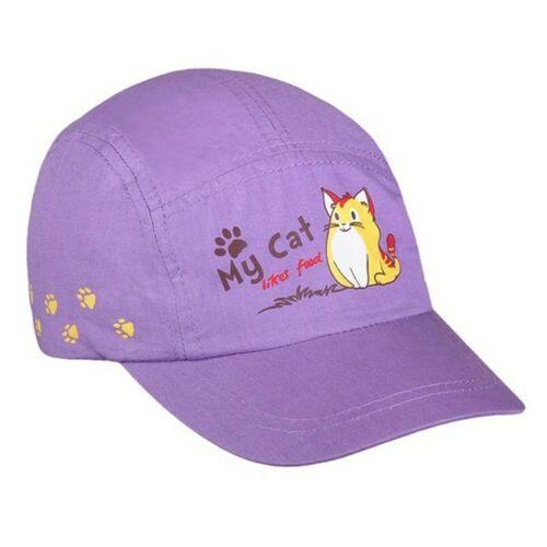 Nyári gyermek baseball sapka New Baby My Cat lila