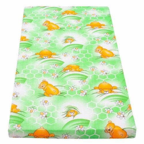 Gyerek matrac New Baby 120x60 hab-kókusz zöld mintákkal