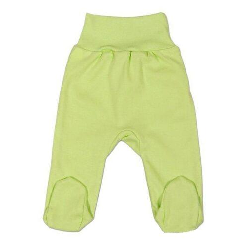 New Baby csecsemő lábfejes nadrág zöld