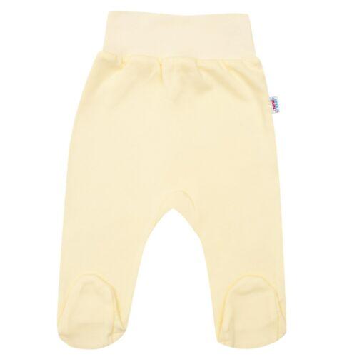 New Baby csecsemő lábfejes nadrág sárga