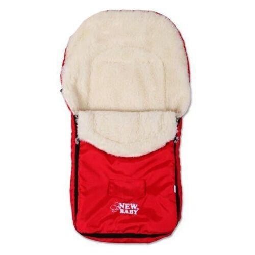 Téli lábzsák New Baby Classic Wool piros