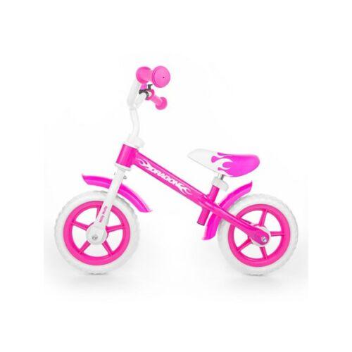 Gyerek futóbicikli Milly Mally Dragon fékkel  rózsaszín