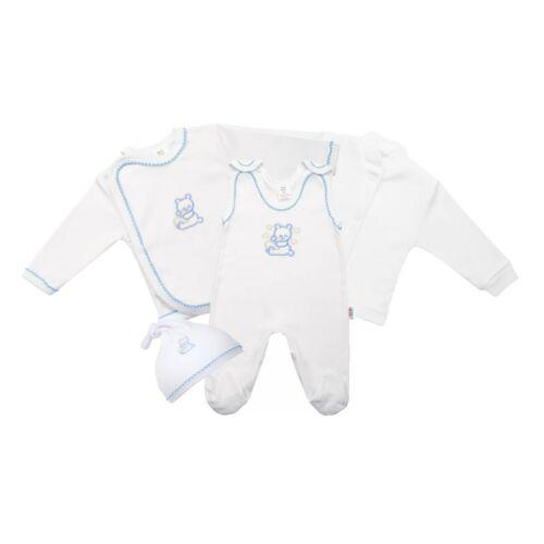 4 részes babaegyüttes fehér kabátkával