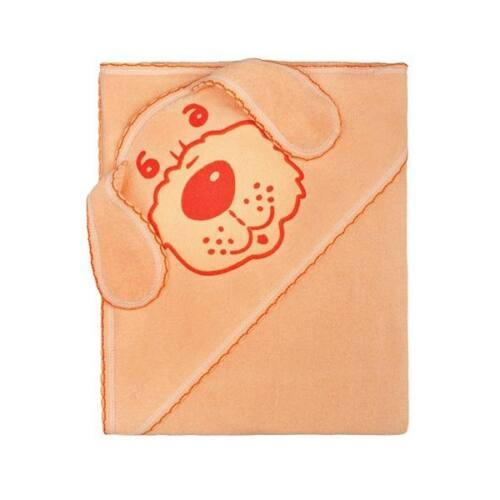 Gyerek törölköző (kifogó) kutyus 100x100 narancssárga