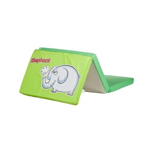Összerakható matrac kiságyba CARETERO Elefánt zöld