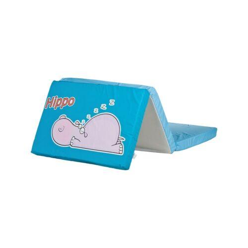 Összerakható matrac kiságyba CARETERO Víziló kék