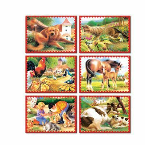 Kocka kirakó 12 darab Állatok a farmról