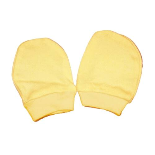 Kesztyű újszülöttek számára sárga