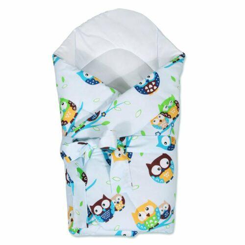 Pólya kókusz merevítéssel és masnival New Baby kék baglyoval
