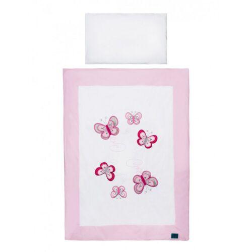 Kétrészes ágyneműgarnitúra Belisima pillangó 90/120 rózsaszín