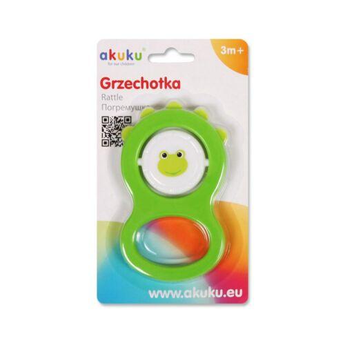Gyermek csörgő Akuku zöld