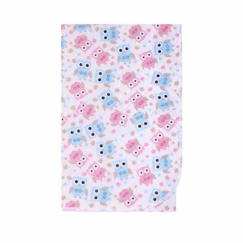 Pelenkázó lap Akuku  55x70 baglyos rózsaszín-kék