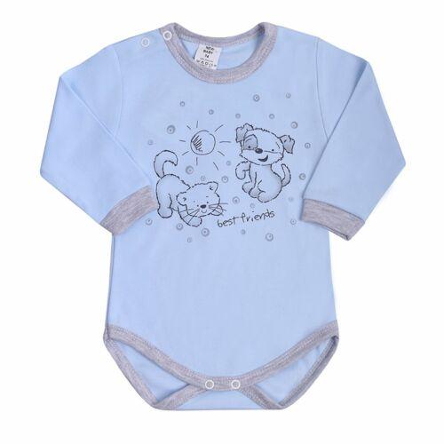 Csecsemő hosszú ujjú body (kombidressz) New Baby Barátok kék