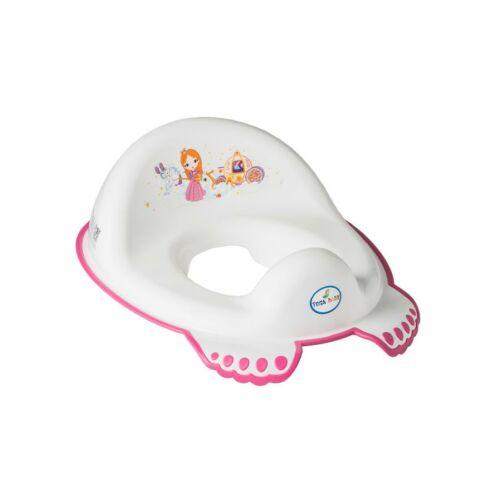 Gyerek csúszásmentes WC szűkítő Kis Hercegnő rózsaszín fehér