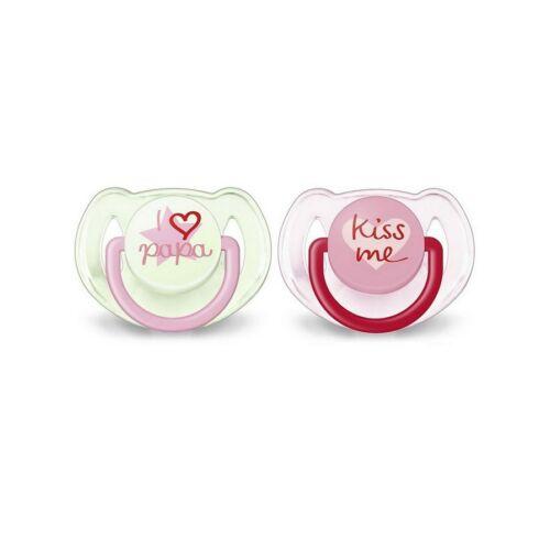 Csecsemő cumi Avent 6-18 hónap  - 2 darab rózsaszín