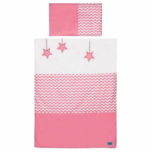 6-részes ágyneműhuzat Belisima Csillag 90/120 rózsaszín